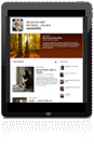 Webmasters website on tablet